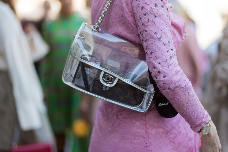 Transparent purse by Chanel