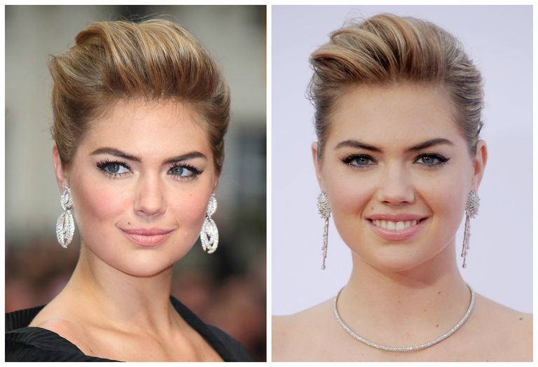 Kate Upton: 2 different prom updos