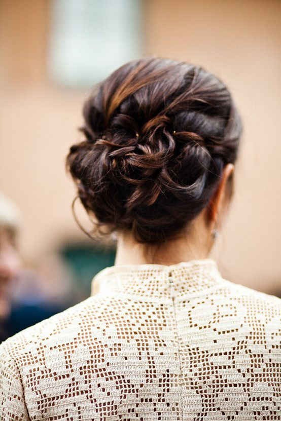updo from behind