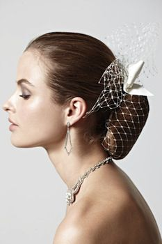 updo with an accessory
