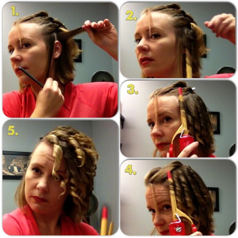 како to curl hair for finger waves.