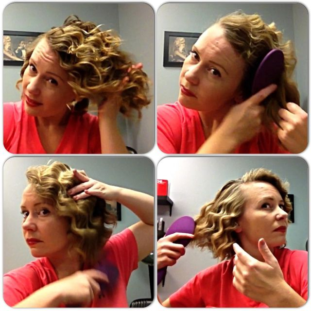 Четкање hair into finger waves