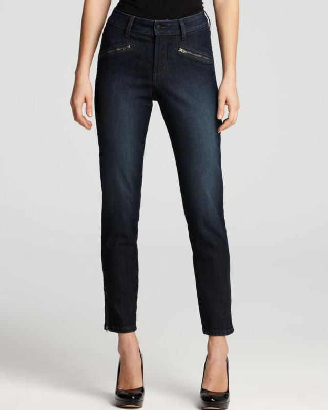 NYDJ Angelina Ankle Jeans with Zips