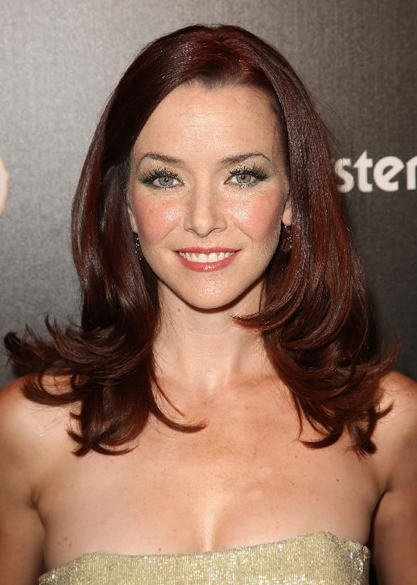 שַׂחְקָנִית Annie Wersching arrives to TV Guide's sexiest stars party on March 24, 2009