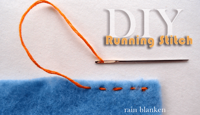 DIY Running Stitch Photo Instructions