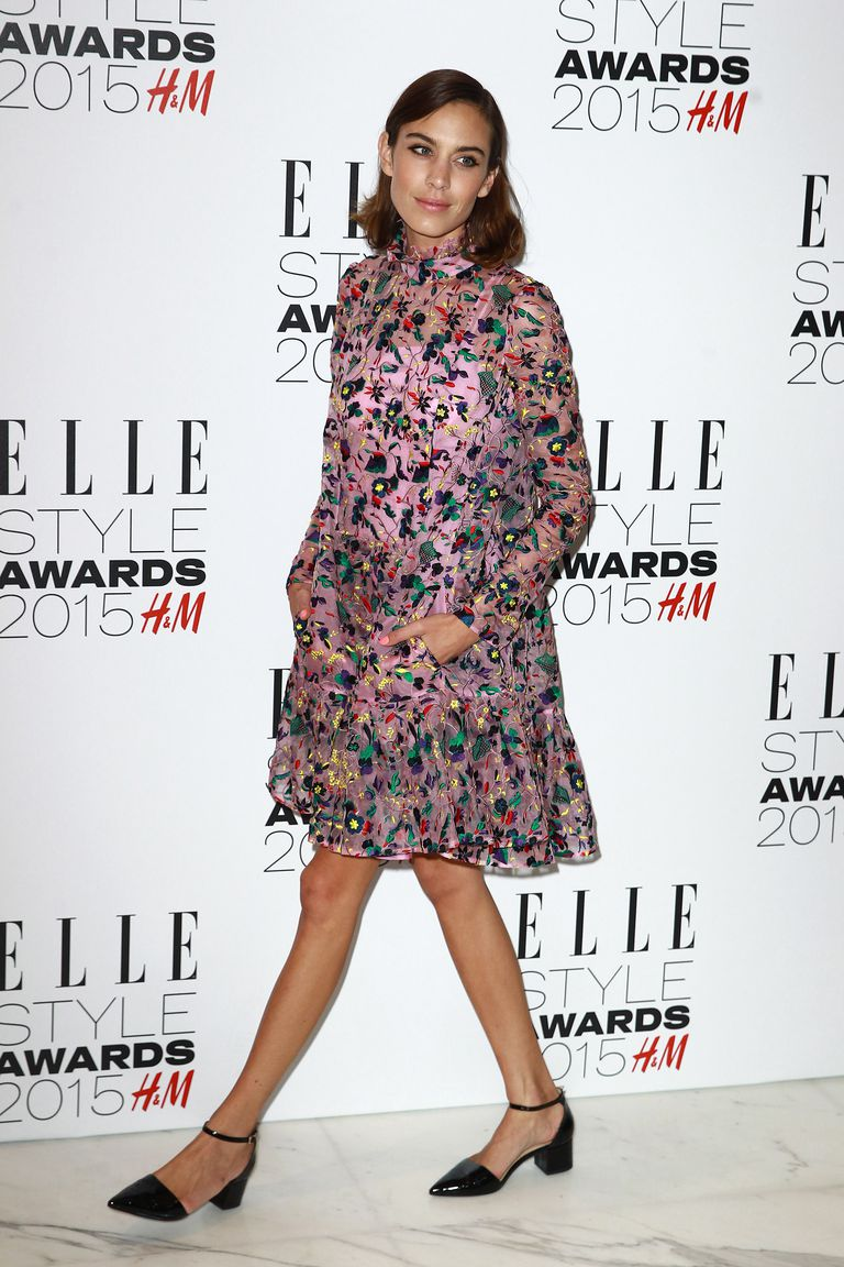 Alexa Chung attends the ELLE Style Awards at Sky Garden in London, England