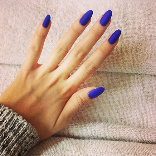 Kobolt Blue Matte Nails