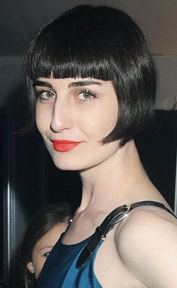 Erin O'Connor's Blunt Bangs