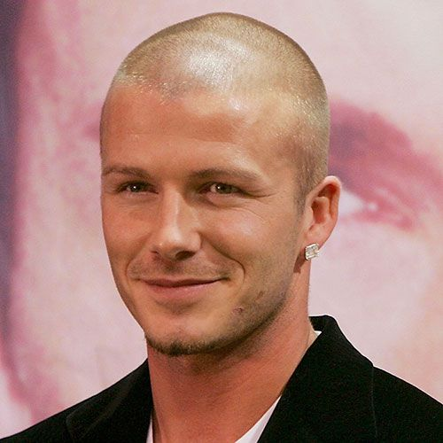 डेविड Beckham Shaved Head