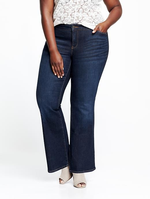 Vechi Navy Smooth & Slim Mid-Rise Boot-Cut Jeans