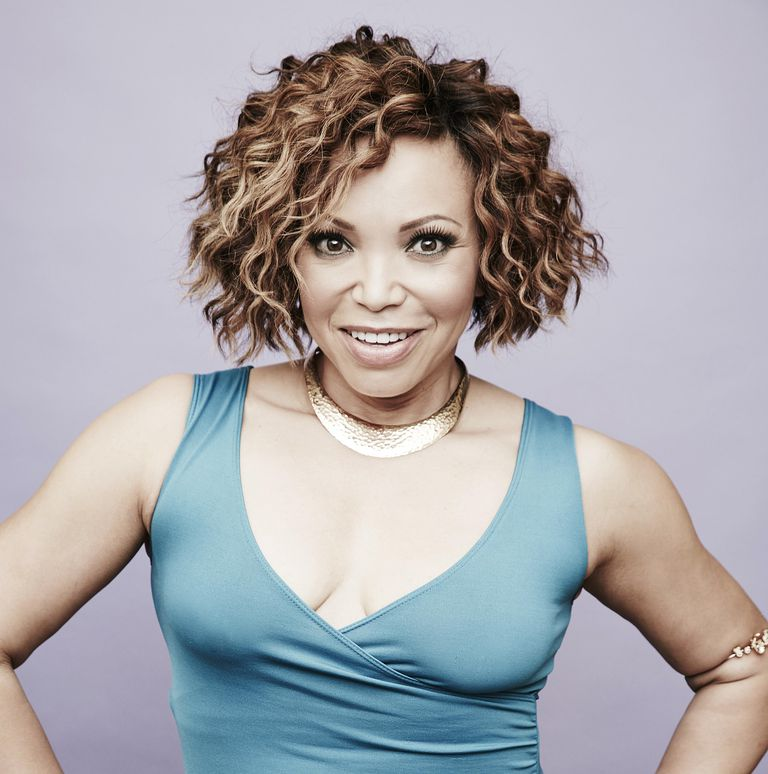 अभिनेत्री Tisha Campbell-Martin from ABC's 'Dr. Ken' poses in the Getty Images Portrait Studio powered by Samsung Galaxy at the 2015 Summer TCA's at The Beverly Hilton Hotel on August 4, 2015 in Beverly Hills, California.