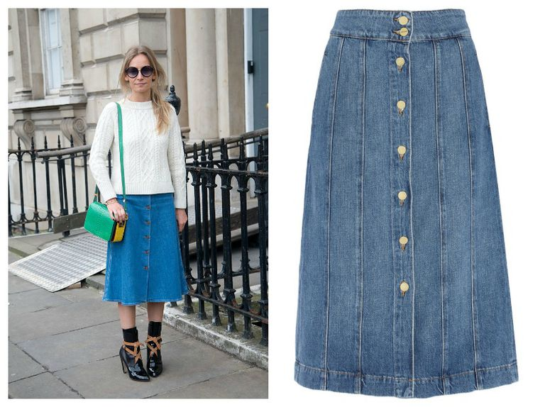 De denim skirt