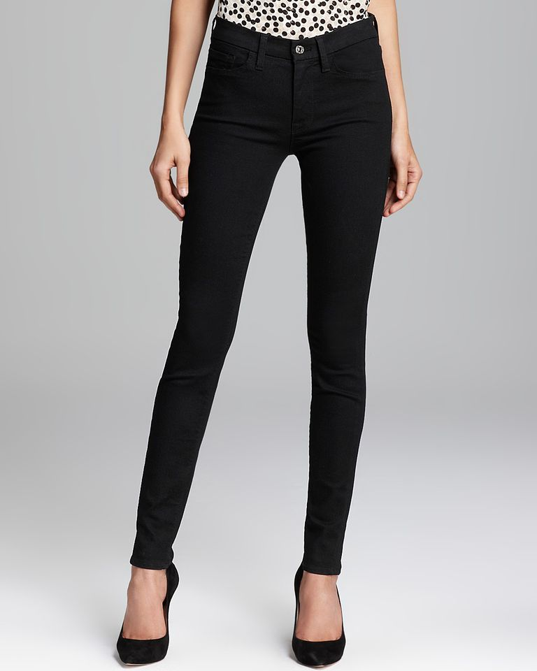 7 for All Mankind Stretchy Skinny Jeans in Black