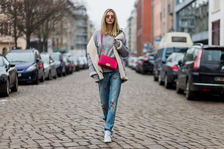 Stradă style denim and designer purse
