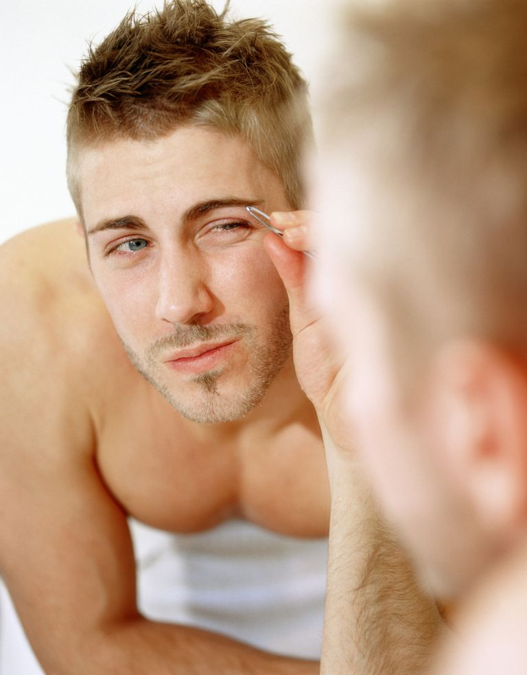 Om tweezing eyebrows, manscaping tips