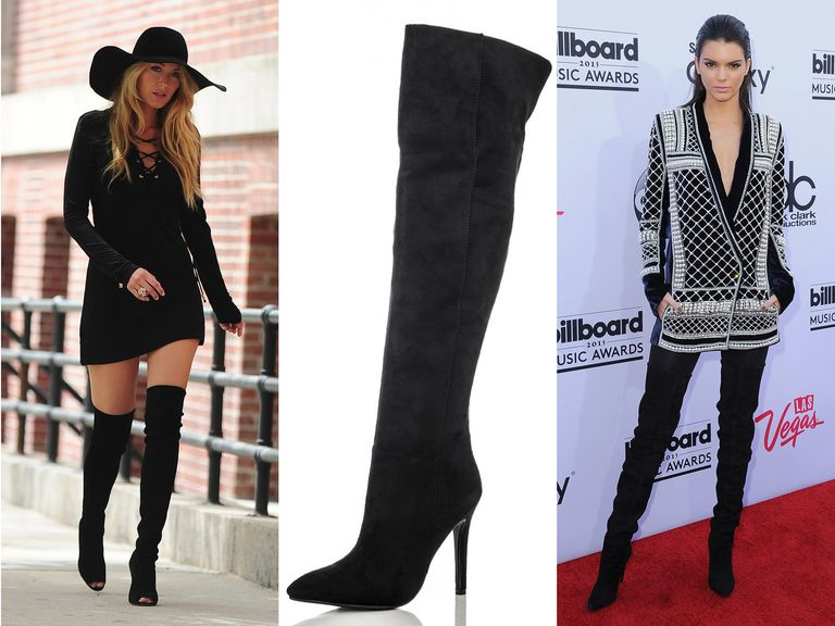 Blake Lively and Kendall Jenner wearing over-the-knee boots
