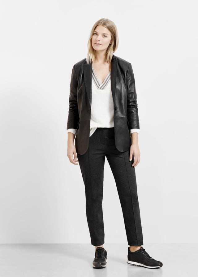 Mango black plus size jeans and blazer