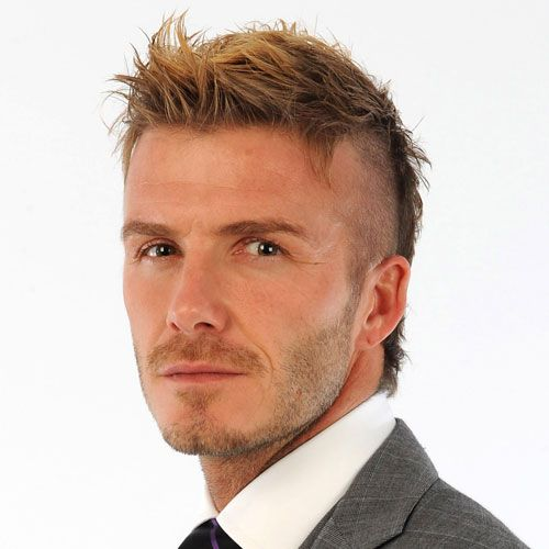 David Beckham Shaved Sides