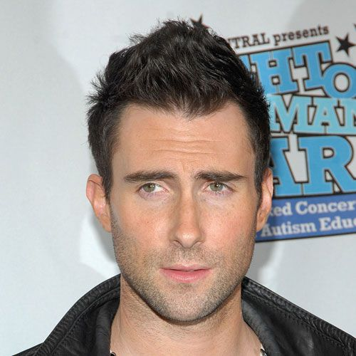 Adam Levine with a faux hawk