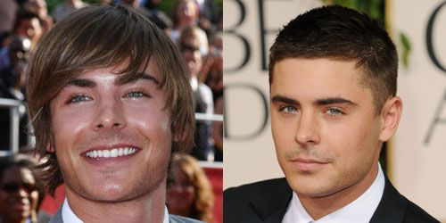 Zac Efron Ivy League to Buzzcut