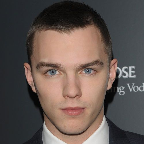 NICHOLAS Hoult with a crewcut
