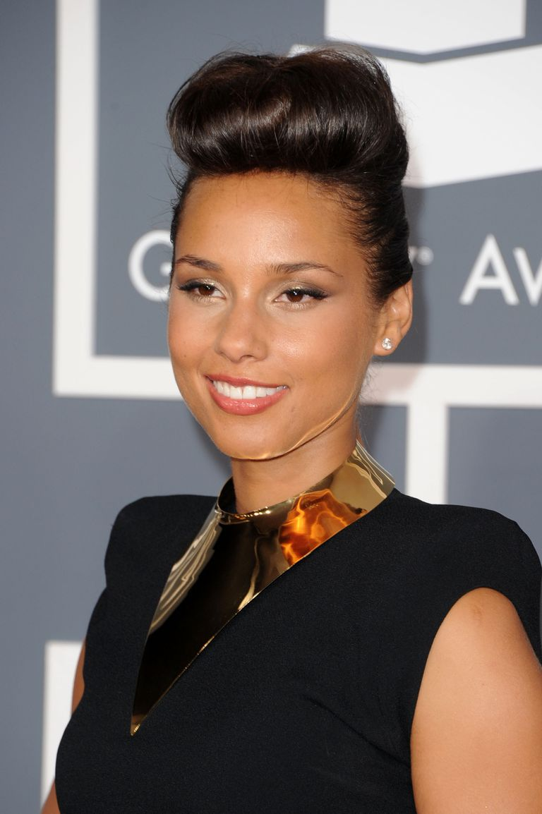 Alicia keys pompadour hairstyle