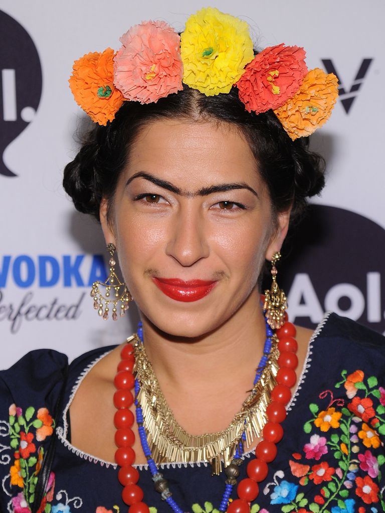 Ребецца Minkoff dressed as Frida Kahlo at Heidi Klum and Seal's 2010 Halloween costume party