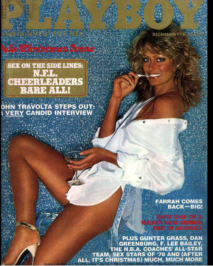 1978 Cover of Playboy with Farrah Fawcett.