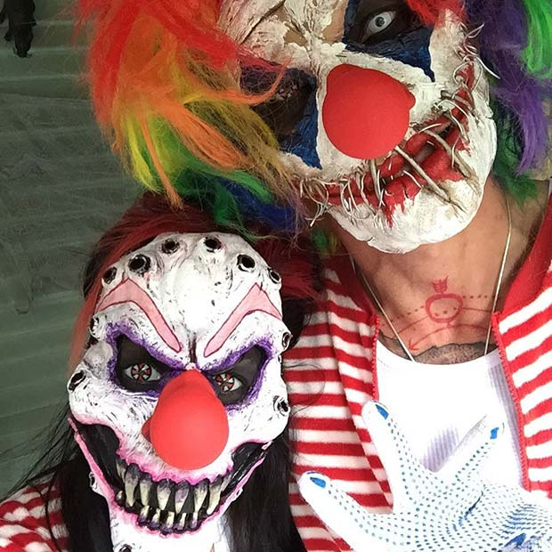 Strašno Clowns for Scary Halloween Costume Ideas for Couple