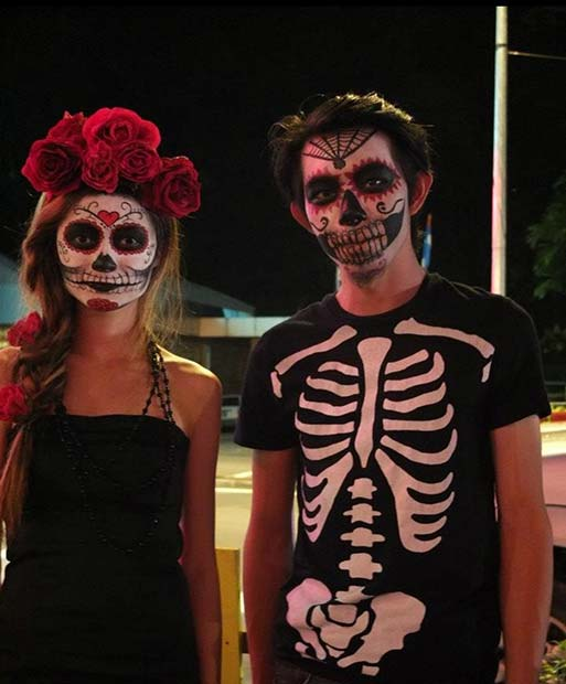 Dan of the Dead Skeletons for Scary Halloween Costume Ideas for Couples
