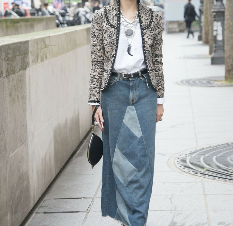 како to wear a jean skirt in every season