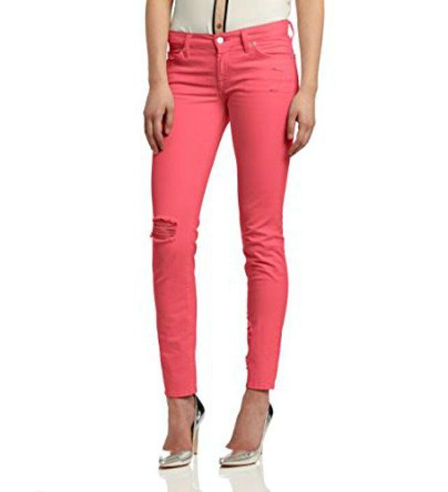 7 for All Mankind Slim Cigarette Jean in Peony Destroyed