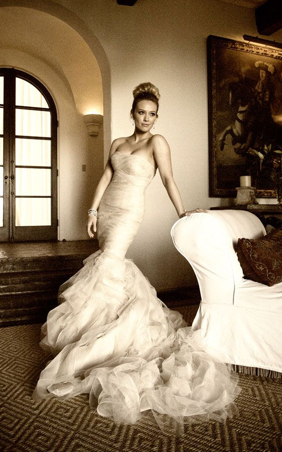 Hilary Duff in Vera Wang wedding dress