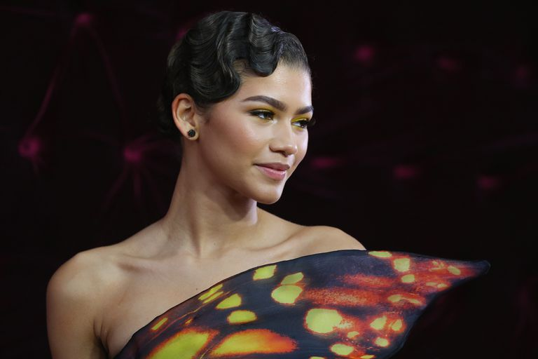 Zendaya with classic updo hair