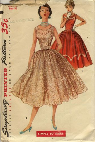50's Dress Patterns
