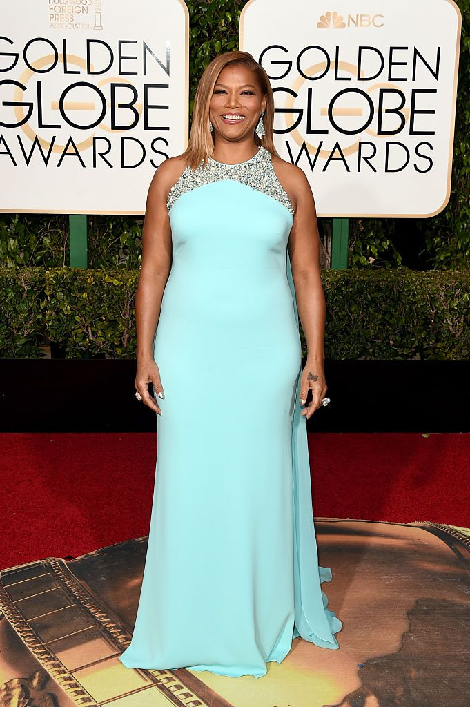 Igralka Queen Latifah attends the 73rd Annual Golden Globe Awards.