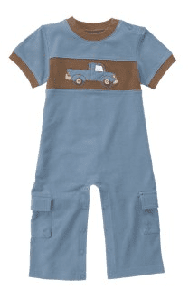 Gymboree Truck Cargo One-Piece Outfit