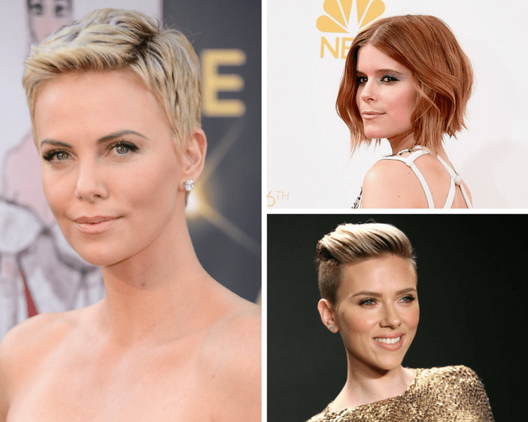 Цхарлизе Theron in a pixie, Kate Mara in a shag & Scarlett Johannson in an edgy pompadour