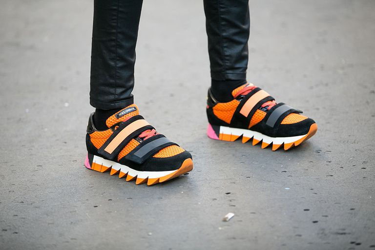 Долце & Gabbana Orange and Black Sneakers