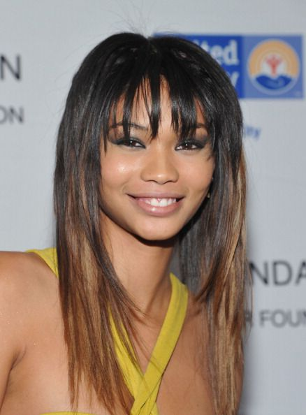Chanel Iman with ombre hair