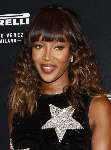 Naomi Campbell with ombre hair
