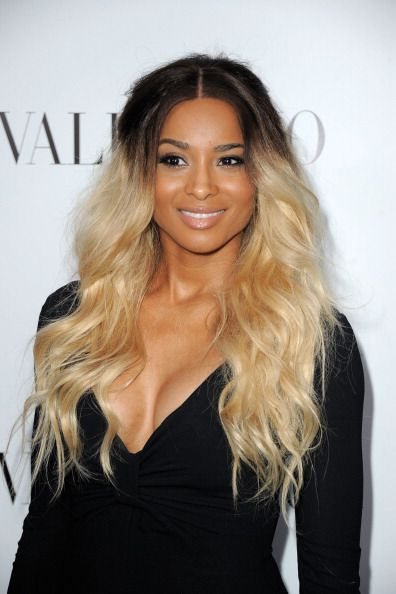 Ciara with ombre hair