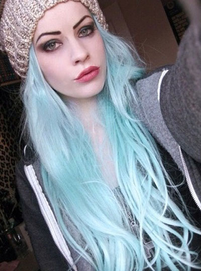 dugo Light Blue Hairstyle