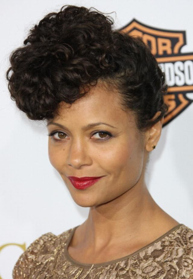 Thandie Newton in updo hairstyle