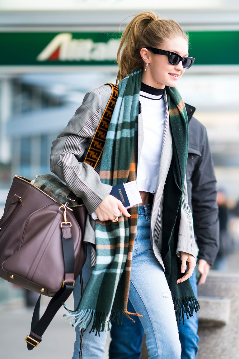 Gigi Hadid at the airport