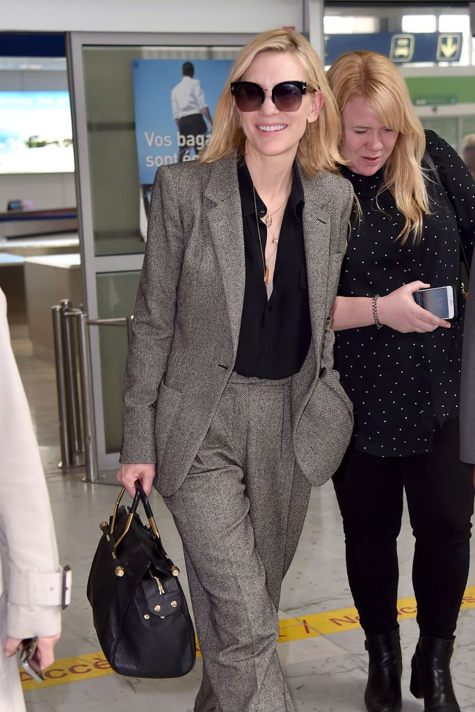 Cate Blanchett at the airport