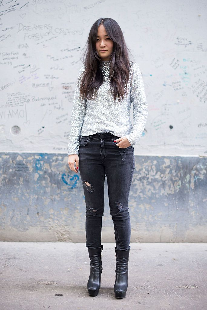 Ulica style grey jeans