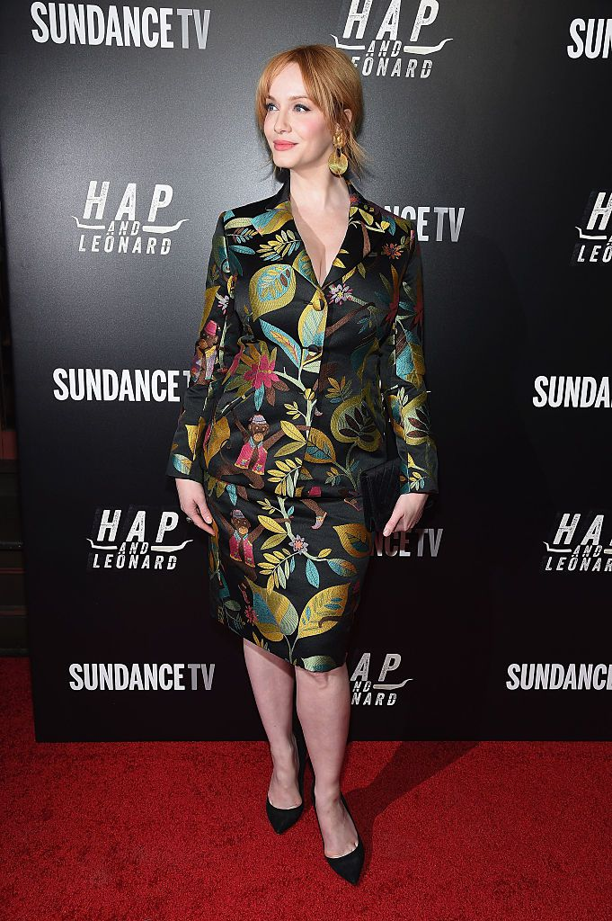 Глумица Christina Hendricks attends the 'Hap and Leonard' New York screening at Hill Country on February 25, 2016 in New York City.