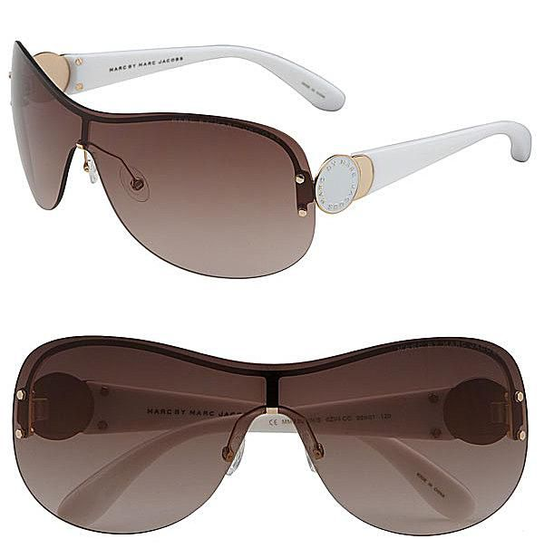 üzüm posası by Marc Jacobs Rimless Shield Sunglasses