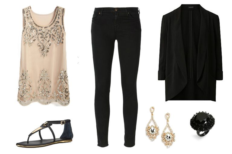 Датум outfit with black jeans